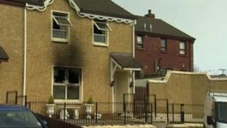 The scene of the attack in Inishmore Park