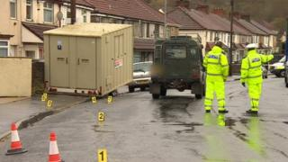 Scene of crash in Bedminster
