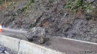 A82 Rock fall