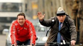 Boris Johnson and Olympian James Boardman
