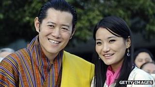 Bhutan's royal couple