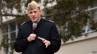 Vice-Adm Michael Rogers, commander of US Fleet Cyber Command and US 10th Fleet, spoke in January 2012