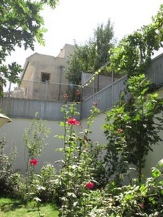 Garden with security walls