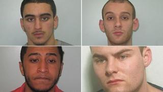 Clockwise: Ahmed Mikhaimar, Arber Barbatovci, Tarquai Joseph and Craig Boyce
