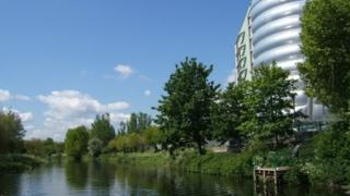 River Soar, close to the National Space Centre in Leicester