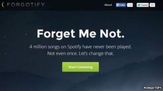 Forgotify screengrab