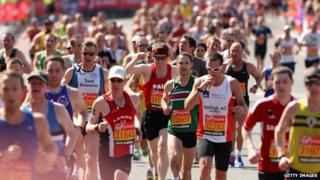 London Marathon runners