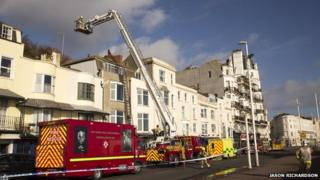 Hastings rescue from building