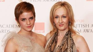Emma Watson and JK Rowling in 2011