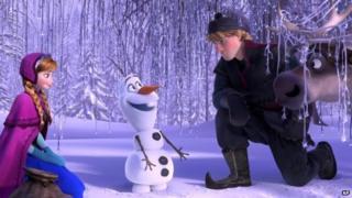 A scene from Disney's Frozen