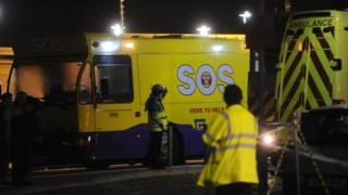 Ambulance and SOS bus
