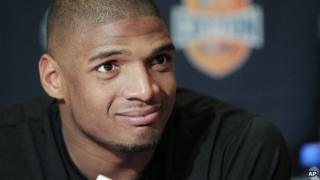 Michael Sam in Irving, Texas, on 1 January 2014
