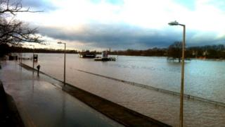 Racecourse under water