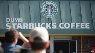 """""""Dumb Starbucks"""" coffee shop in Los Angeles"""