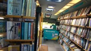 Mobile library service in Devon