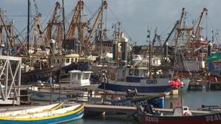 Fishing boats at Newlyn