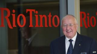 Rio Tinto chief executive Sam Walsh