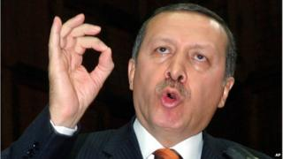 Turkish Prime Minister Recep Tayyip Erdogan addressing legislators
