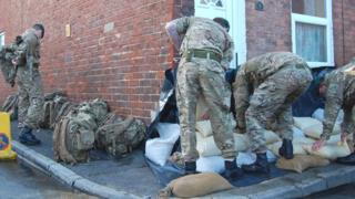Wiltshire troops at Alney Island, Gloucester