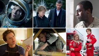 Clockwise from top left: Gravity, Philomena, Mandela, Rush, The Selfish Giant, Saving Mr Banks
