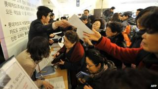 South Korean customers looking to cancel their credit cards