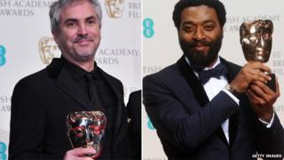 Alfonso Cuaron and Chiwetel Ejiofor