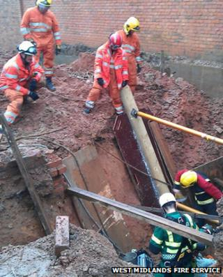 Firefighters rescue man