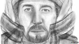 Identikit picture of motorcyclist wanted