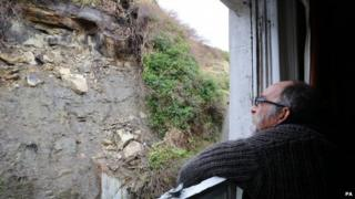 Chris Paraskeva looks at the collapsed cliff