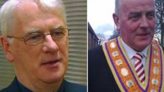 Bishop Noel Treanor and Edward Stevenson
