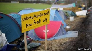 Anti-fracking camp at Barton Moss