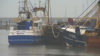 Fishing boats in Brixham harbour