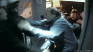 CCTV of Newark fight