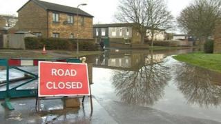 Flooding at Buckskin, Basingstoke