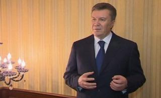 President Yanukovych in a screengrab from his address