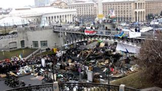 Barricades in Independence Square, Kiev