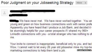 The email Kelly Blazek sent Diana Mekota