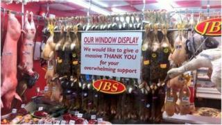 Meat in JBS Family Butcher's window