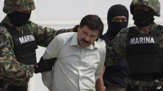 "Joaquin ""El Chapo"" Guzman is seen in custody in Mexico City, Mexico, on 22 February 2014"