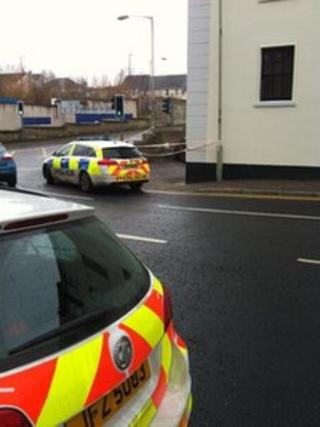 Police have sealed off the area where the man was found