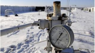 Russian gas pipeline in Boyarka, near Kiev, 2009