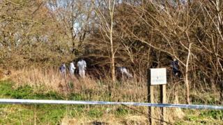 Scene of the find in Ufford
