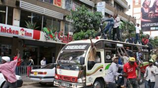 Taxi operators protest in Nairobi (5 March 2013)