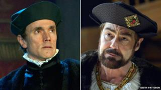 Ben Miles as Cromwell and Nathaniel Parker as Henry VIII in Wolf Hall