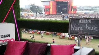 BBC Three at the Reading Festival