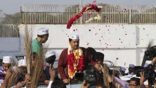 Arvind Kejriwal in Gujarat
