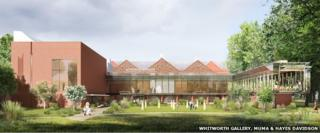 "An artist's impression of how the gallery will look with its new extension and ""art garden"""