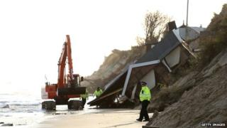 Hemsby damaged by storms