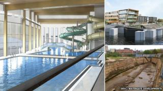 Artist impressions of Bridlington Leisure World and Watergate Developments