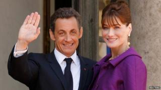 File photo of Nicolas Sarkozy and Carla Bruni in 2008